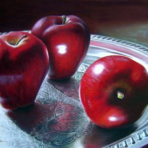 Apple on Silver-Colleen Brown