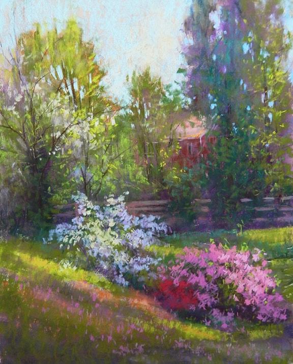 julia_lesnichy-azaleas_in_the_morning_light