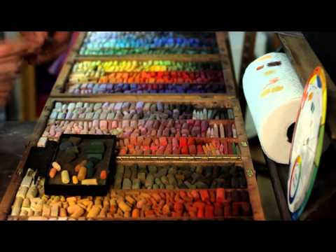 Underpainting techniques on UART: Watercolor Wash. Part Two: Applying Pastel